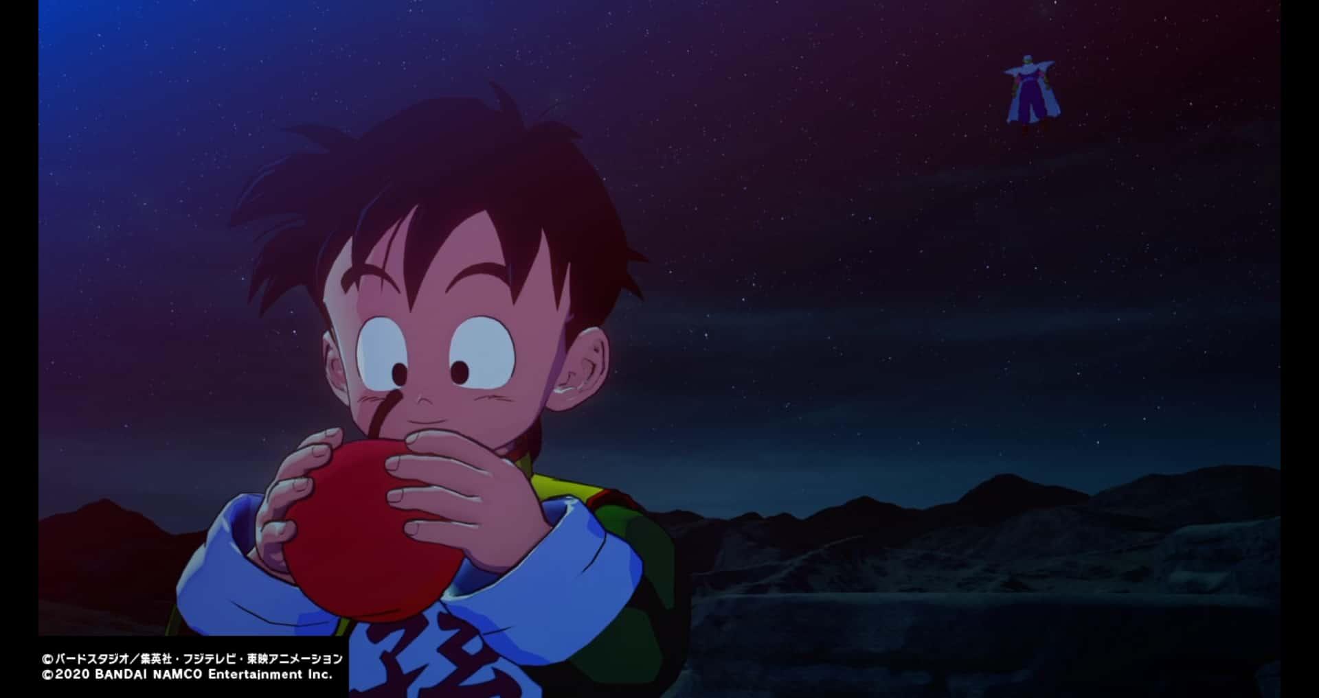 リンゴを食べる悟飯