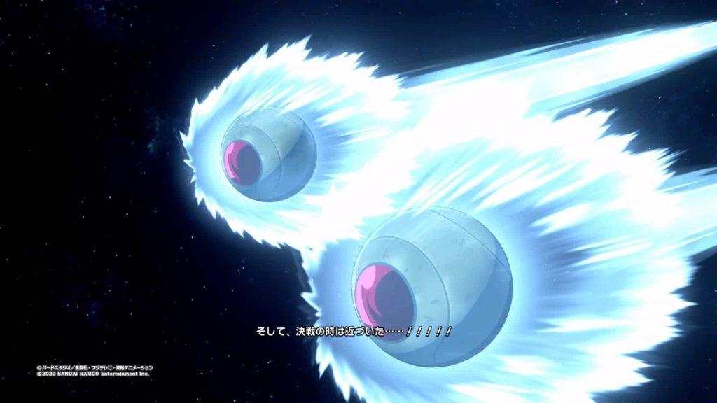 ベジータとナッパが地球に到着