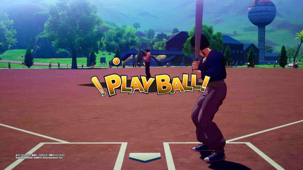 野球をする悟飯