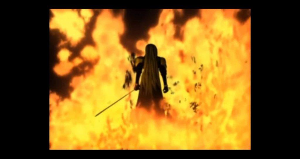 ニブルヘイムを焼き払うセフィロス