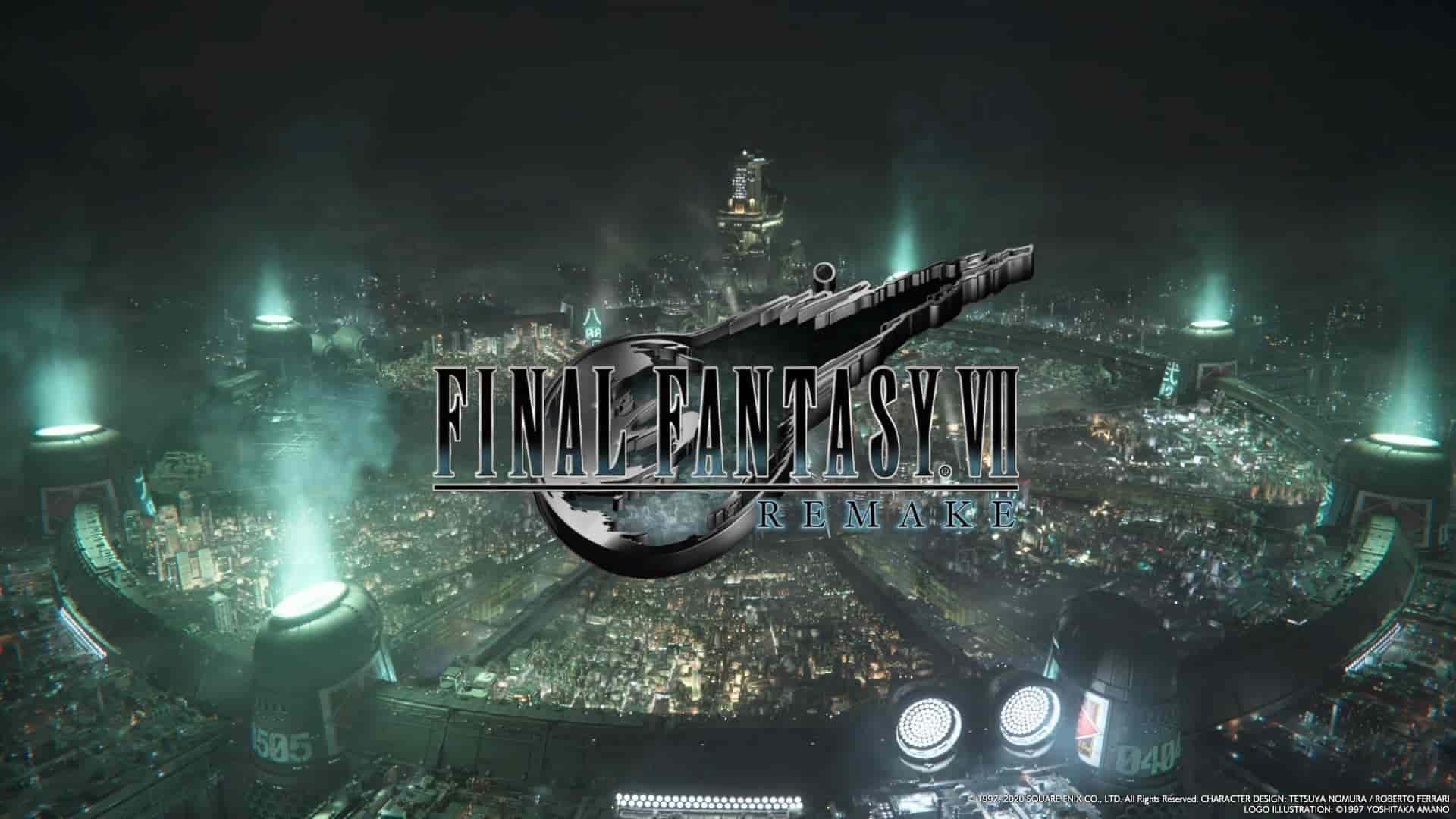 FF7リメイクタイトル画面